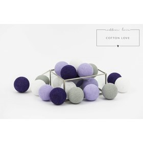 Cotton shining LED balls Cotton Balls - purple, cotton love